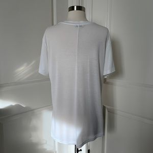 Zara Tops - ZARA BASIC WHITE V-NECK
